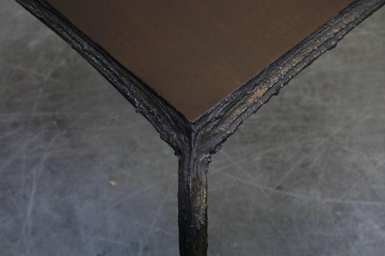 Paul Evans for Directional #PE-114 Sculpted Bronze Cafe Dining Table, circa 1968 For Sale 12