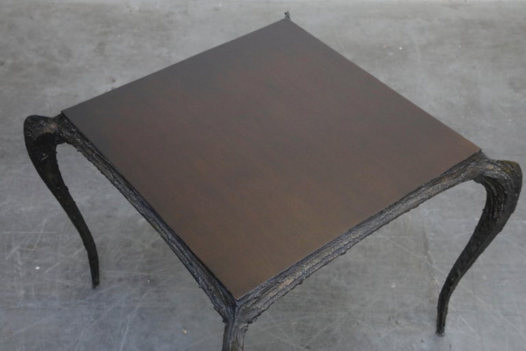 Paul Evans for Directional #PE-114 Sculpted Bronze Cafe Dining Table, circa 1968 For Sale 2