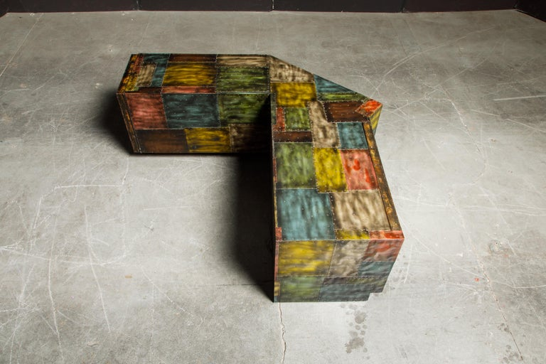 Paul Evans for Directional Wrap-Around Corner Bench and Cabinet, circa 1970 For Sale 3