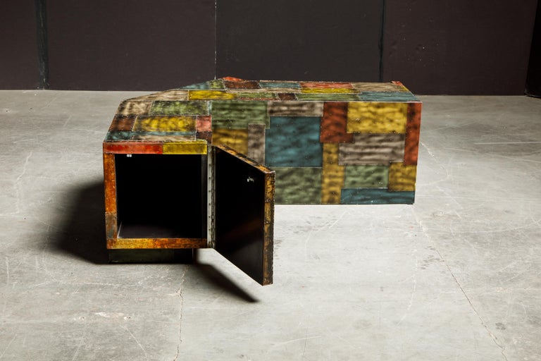 Paul Evans for Directional Wrap-Around Corner Bench and Cabinet, circa 1970 For Sale 6