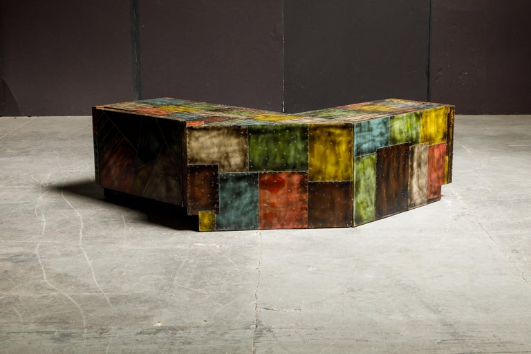 Paul Evans for Directional Wrap-Around Corner Bench and Cabinet, circa 1970 For Sale 8