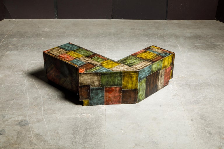 Paul Evans for Directional Wrap-Around Corner Bench and Cabinet, circa 1970 For Sale 9
