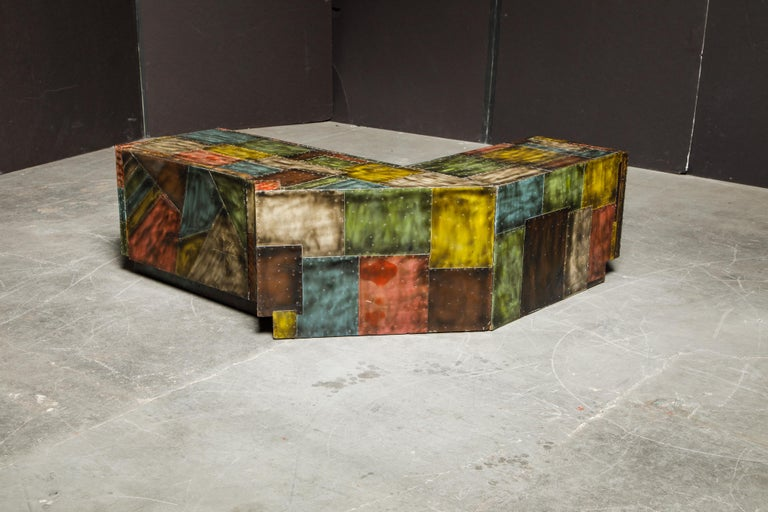 Paul Evans for Directional Wrap-Around Corner Bench and Cabinet, circa 1970 In Good Condition For Sale In Los Angeles, CA