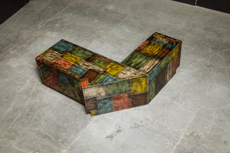 Late 20th Century Paul Evans for Directional Wrap-Around Corner Bench and Cabinet, circa 1970 For Sale