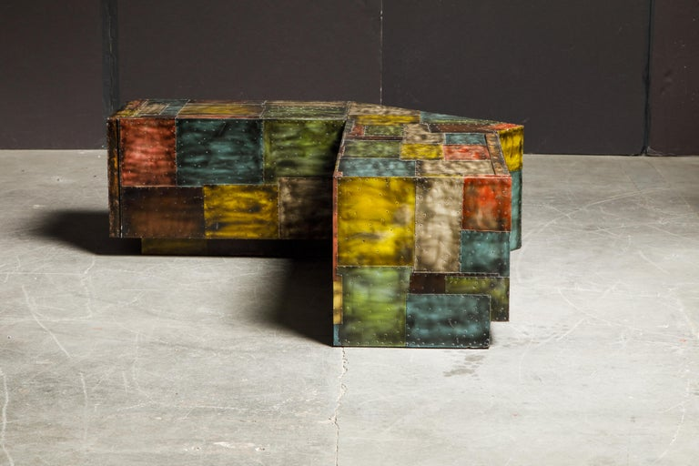 Paul Evans for Directional Wrap-Around Corner Bench and Cabinet, circa 1970 For Sale 2