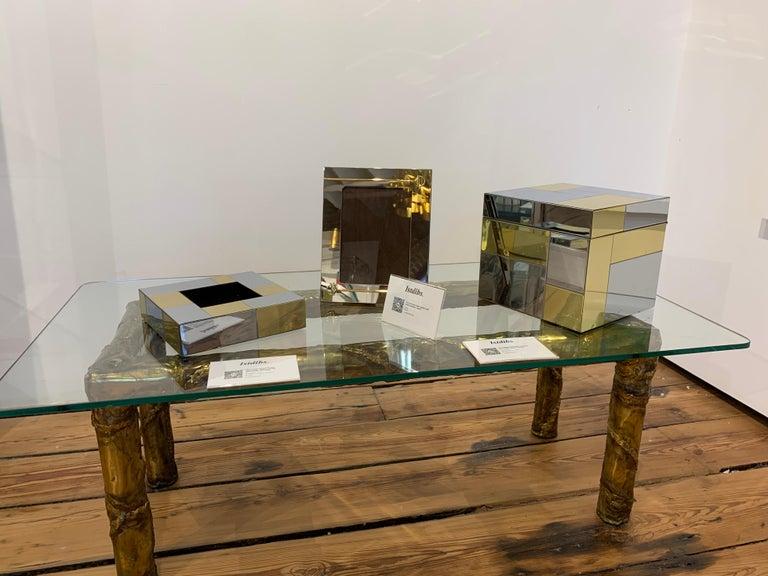 Paul Evans Ice Bucket, Cityscape, Brass, Chrome, Glass For Sale 6