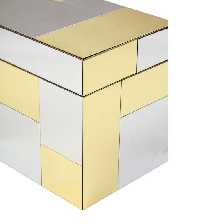 Paul Evans Ice Bucket, Cityscape, Brass, Chrome, Glass For Sale 2