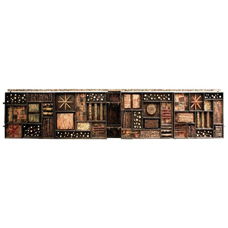 """Paul Evans Important """"Sculpture Front Cabinet"""", 1979 For Sale"""