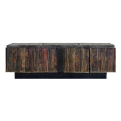 "Paul Evans Large ""Deep Relief Credenza"" 1970 'Signed'"