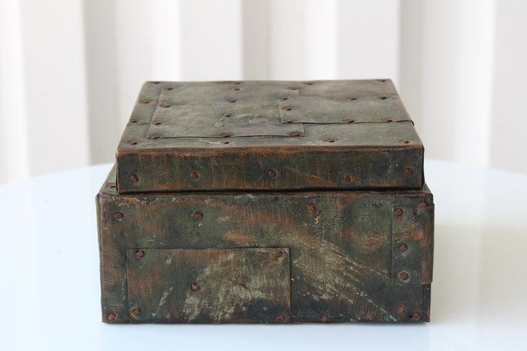 Brutalist Paul Evans Lidded Box, U.S.A, 1965 For Sale