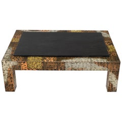 Paul Evans Mid-Century Modern Rectangular Coffee Table with Slate Top