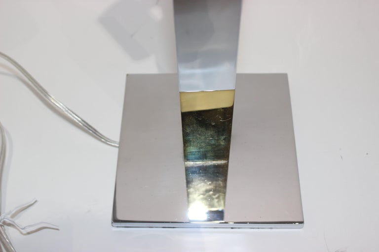 Polished Paul Evans Mixed Metal Skyscraper Table Lamp For Sale