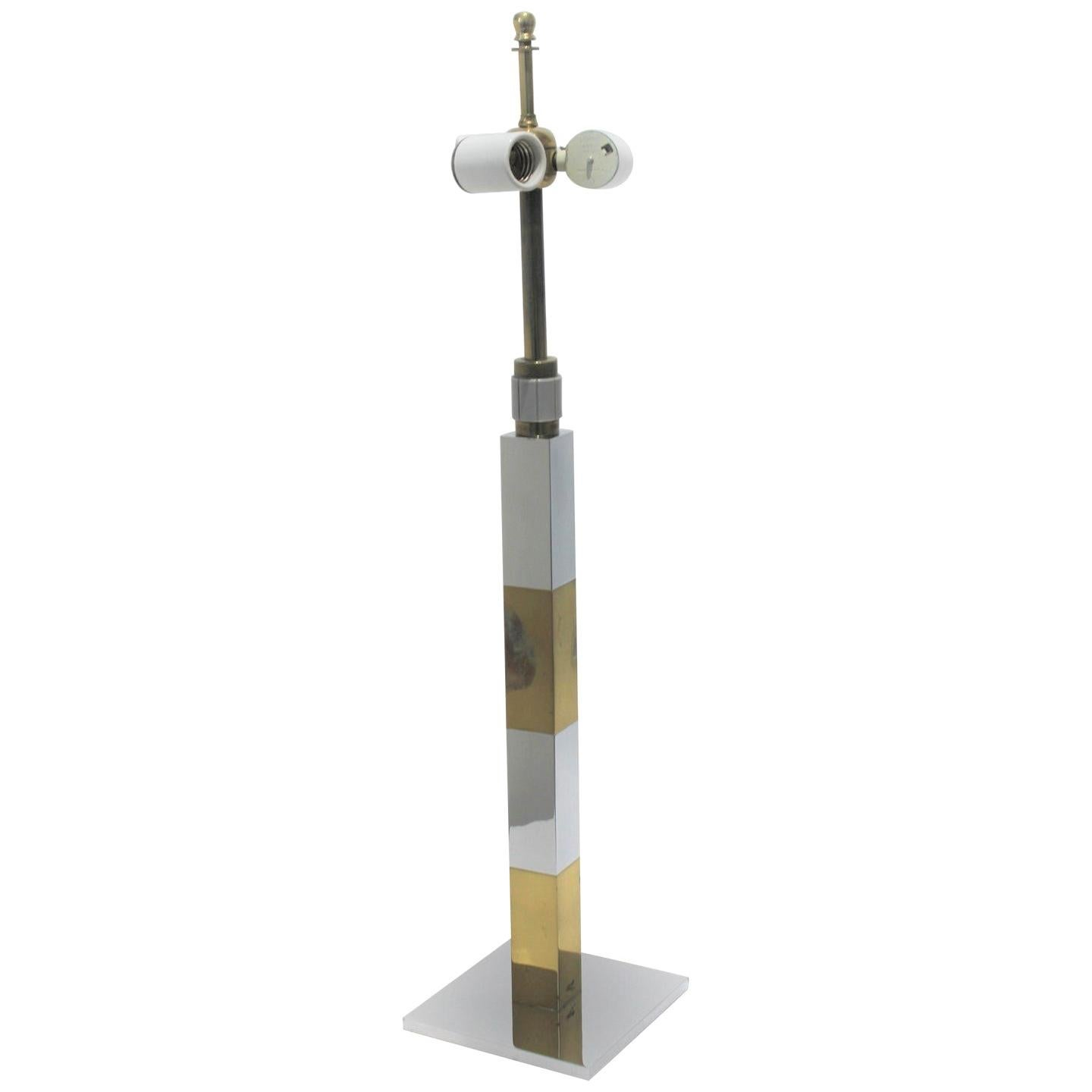 Paul Evans Mixed Metal Skyscraper Table Lamp