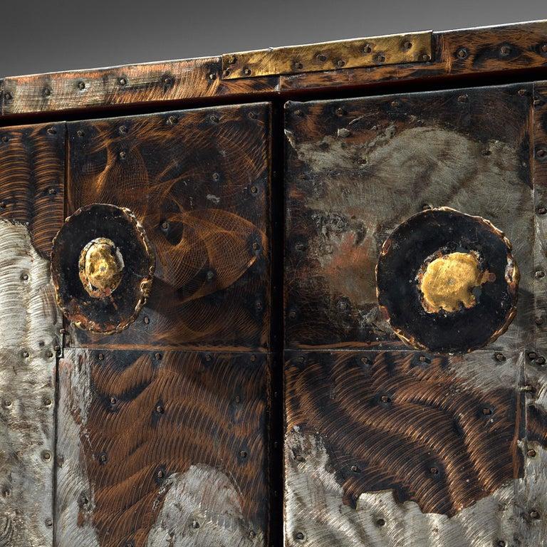 Mid-Century Modern Paul Evans Patchwork Cabinet PE-302 For Sale