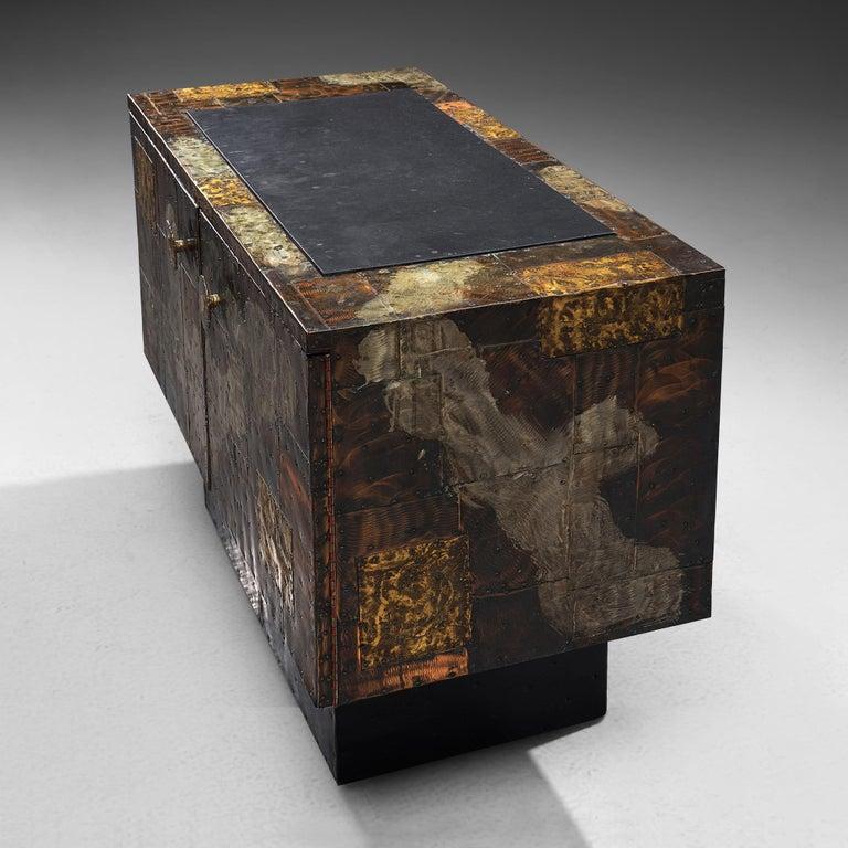 Paul Evans Patchwork Cabinet PE-302 In Good Condition For Sale In Waalwijk, NL