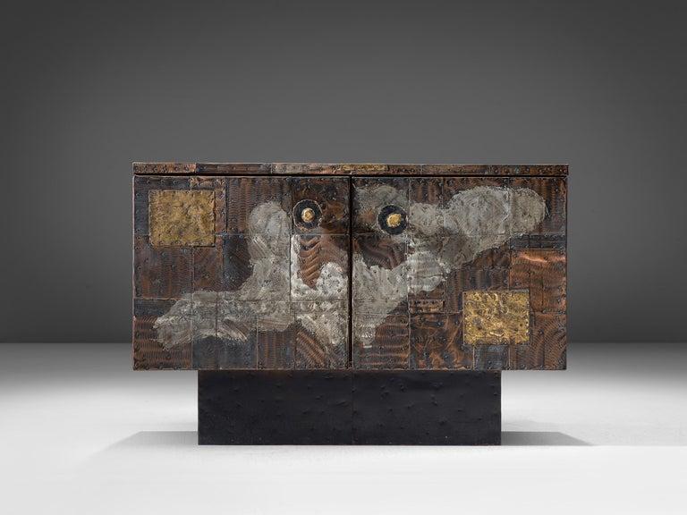 Mid-20th Century Paul Evans Patchwork Cabinet PE-302 For Sale