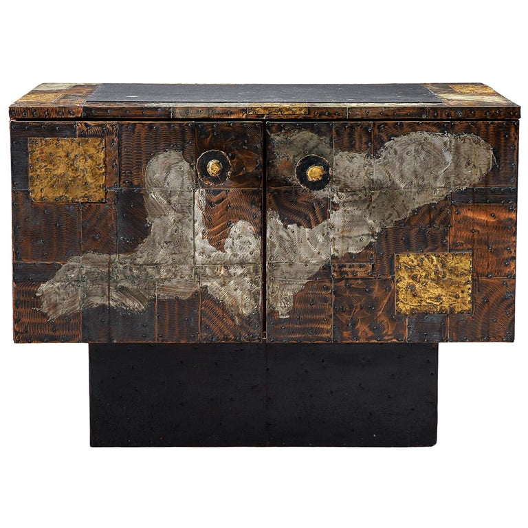 Paul Evans Patchwork Cabinet PE-302 For Sale