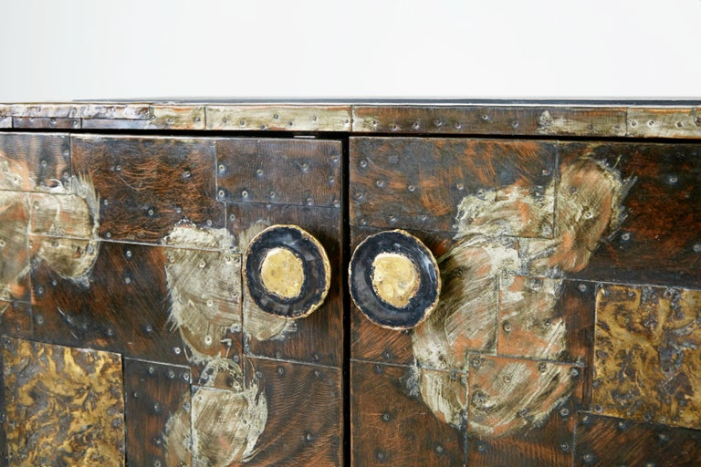 Paul Evans Patchwork Copper Cabinet with Slate Top for Directional, 1967 For Sale 3