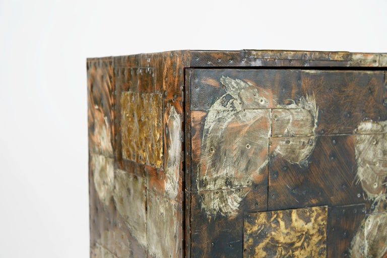 Paul Evans Patchwork Copper Cabinet with Slate Top for Directional, 1967 For Sale 4