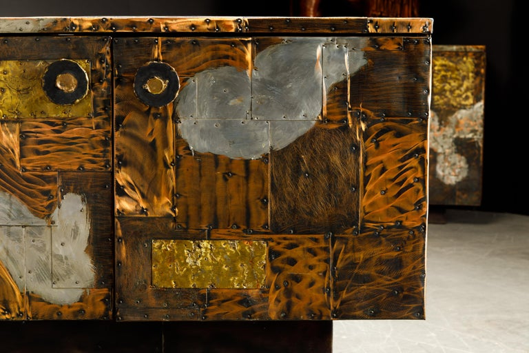 Paul Evans Patchwork Copper Cabinet with Slate Top for Directional, c. 1967 For Sale 10