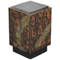 Paul Evans Patchwork Cube Side Table