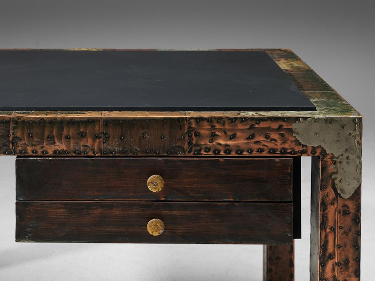 Mid-Century Modern Paul Evans Patchwork Desk, 1970s For Sale
