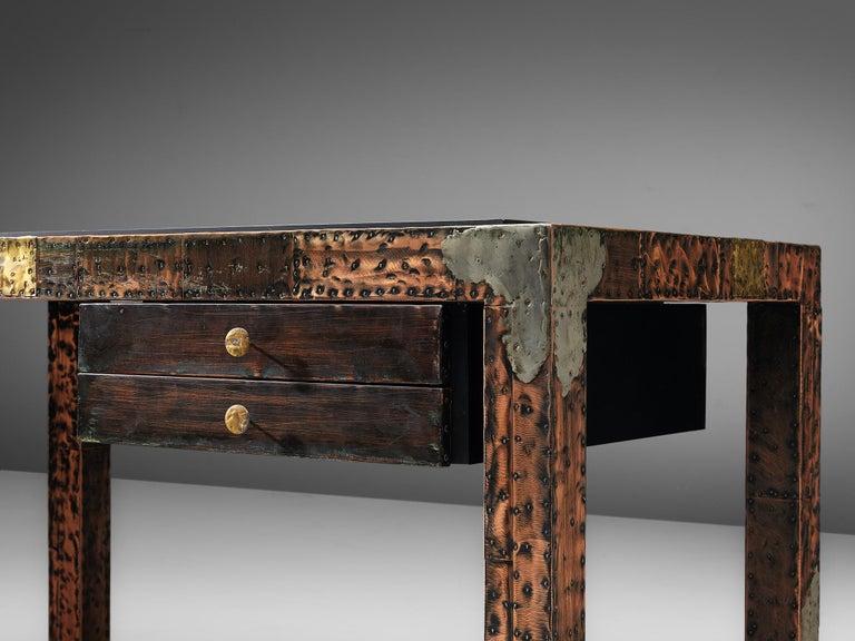 Paul Evans Patchwork Desk, 1970s In Good Condition For Sale In Waalwijk, NL