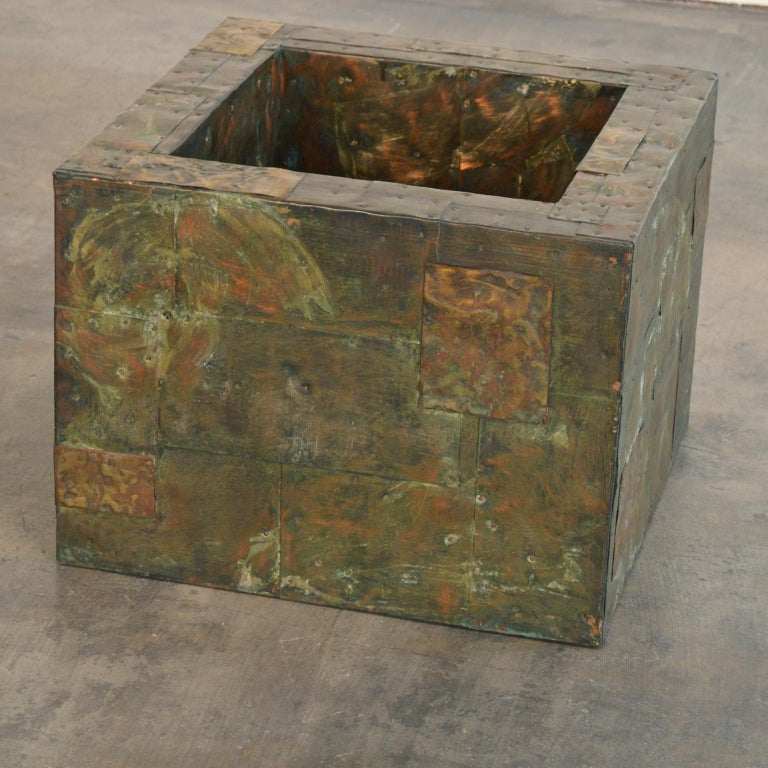 Paul Evans Patchwork Metal Coffee Table for Directional c. 1970 For Sale 3