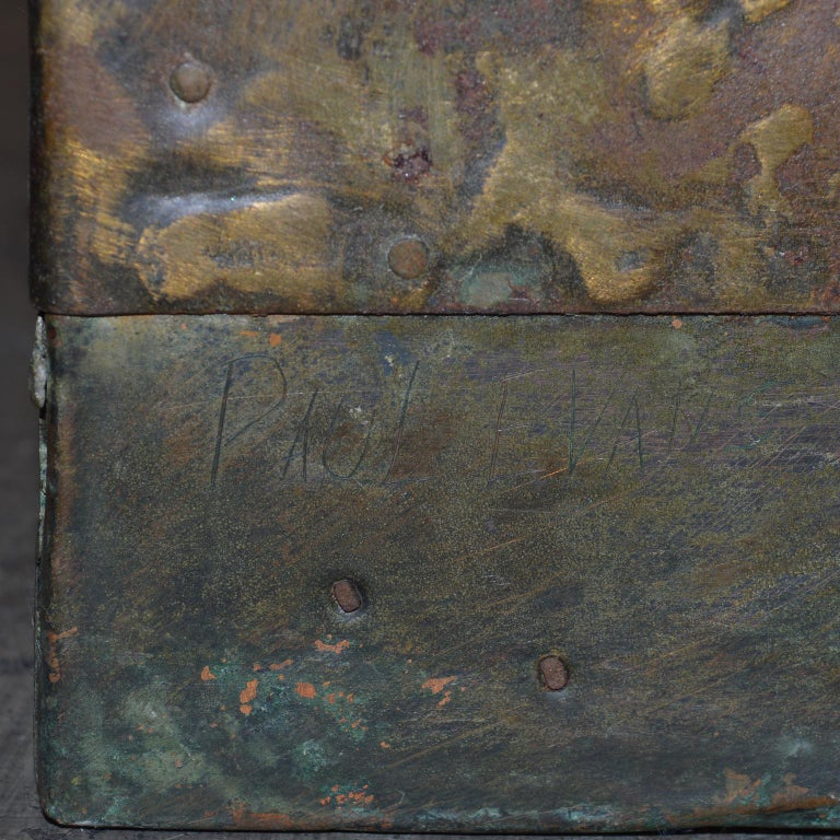 Paul Evans Patchwork Metal Coffee Table for Directional c. 1970 For Sale 4