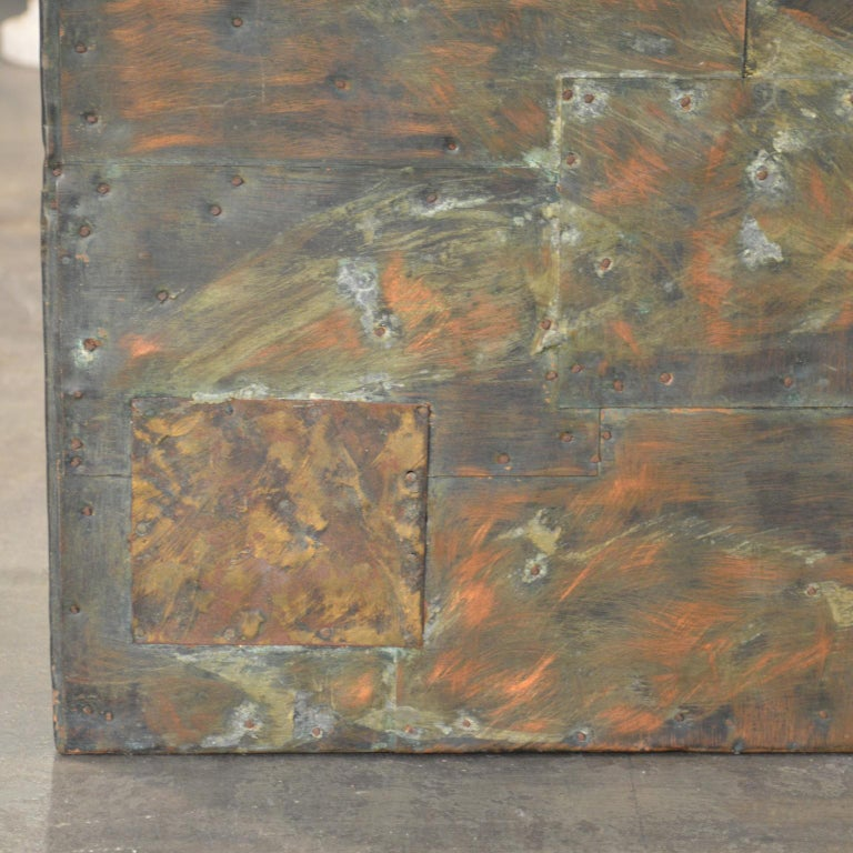 Paul Evans Patchwork Metal Coffee Table for Directional c. 1970 For Sale 6