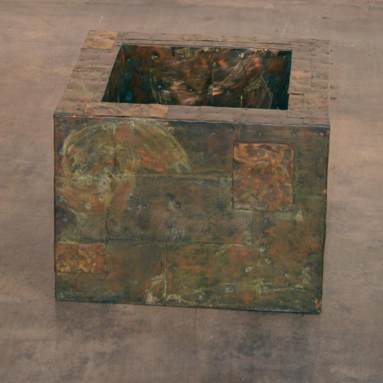 Paul Evans Patchwork Metal Coffee Table for Directional c. 1970 In Good Condition For Sale In Portland, ME