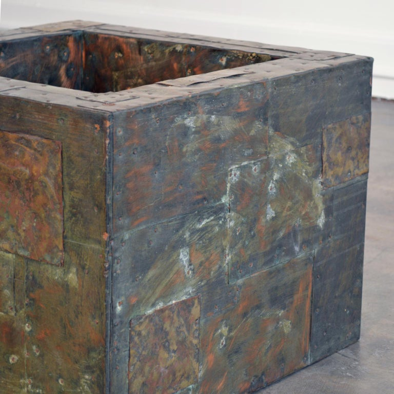 Late 20th Century Paul Evans Patchwork Metal Coffee Table for Directional c. 1970 For Sale