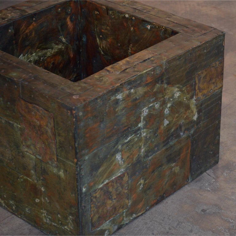 Paul Evans Patchwork Metal Coffee Table for Directional c. 1970 For Sale 1