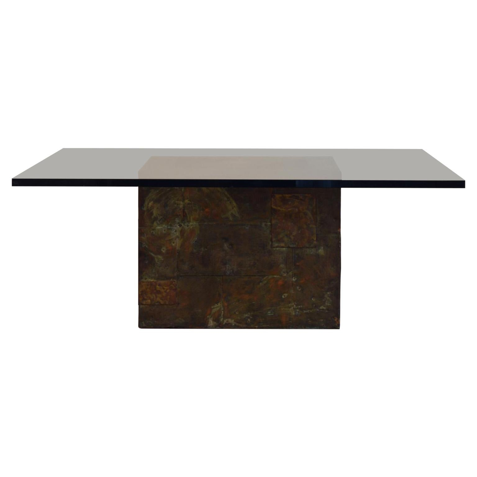 Paul Evans Patchwork Metal Coffee Table for Directional c. 1970