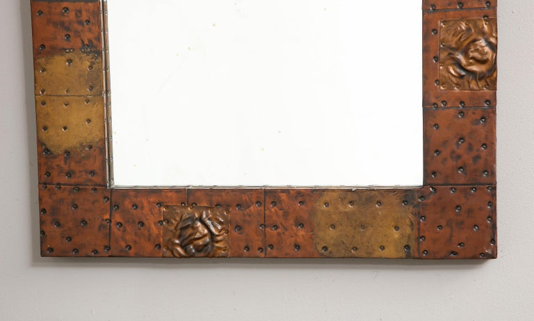 Paul Evans Patchwork Mirror and Wall-Mounted Console For Sale 8