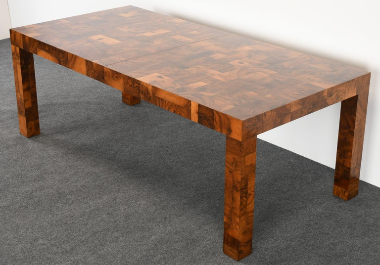 Paul Evans Patchwork Walnut Dining Table for Directional, 1970s For Sale 4