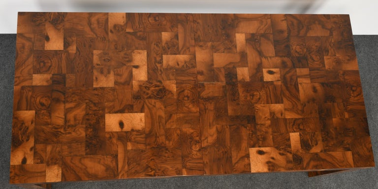 Paul Evans Patchwork Walnut Dining Table for Directional, 1970s For Sale 5