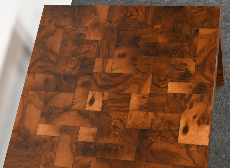 Paul Evans Patchwork Walnut Dining Table for Directional, 1970s For Sale 6