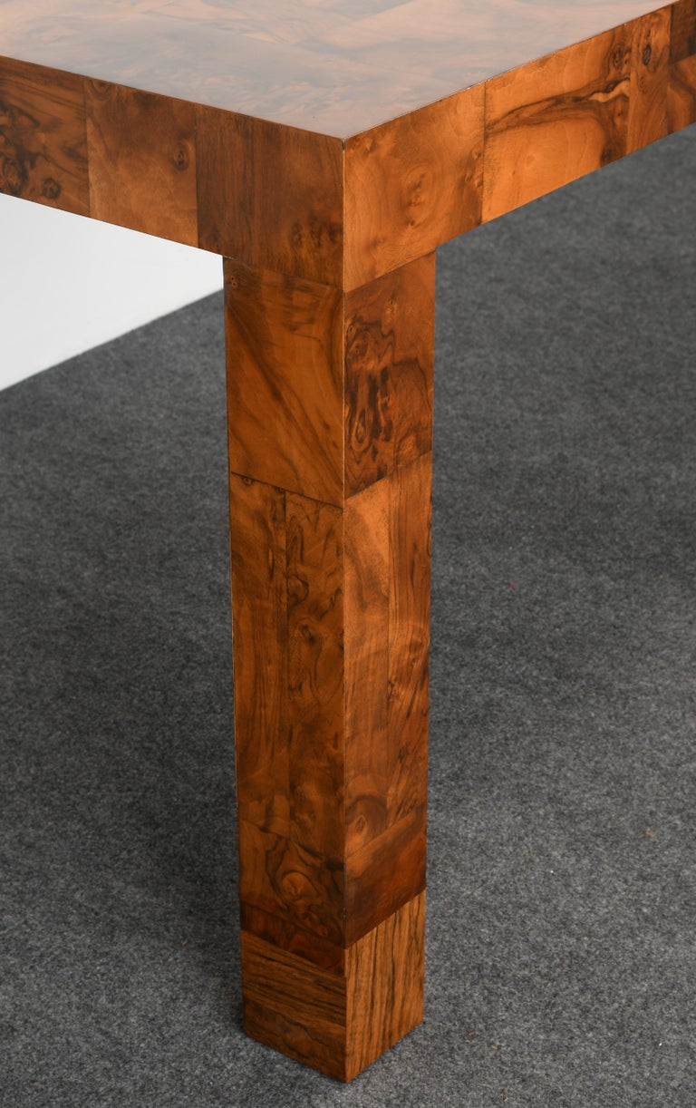 Paul Evans Patchwork Walnut Dining Table for Directional, 1970s For Sale 11