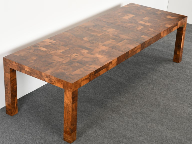 Mid-Century Modern Paul Evans Patchwork Walnut Dining Table for Directional, 1970s For Sale