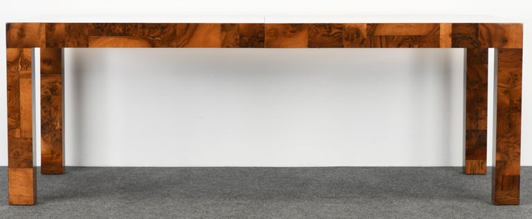Paul Evans Patchwork Walnut Dining Table for Directional, 1970s In Good Condition For Sale In Hamburg, PA
