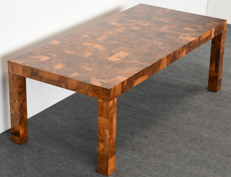 Paul Evans Patchwork Walnut Dining Table for Directional, 1970s For Sale 1