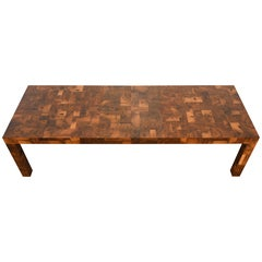 Paul Evans Patchwork Walnut Dining Table for Directional, 1970s