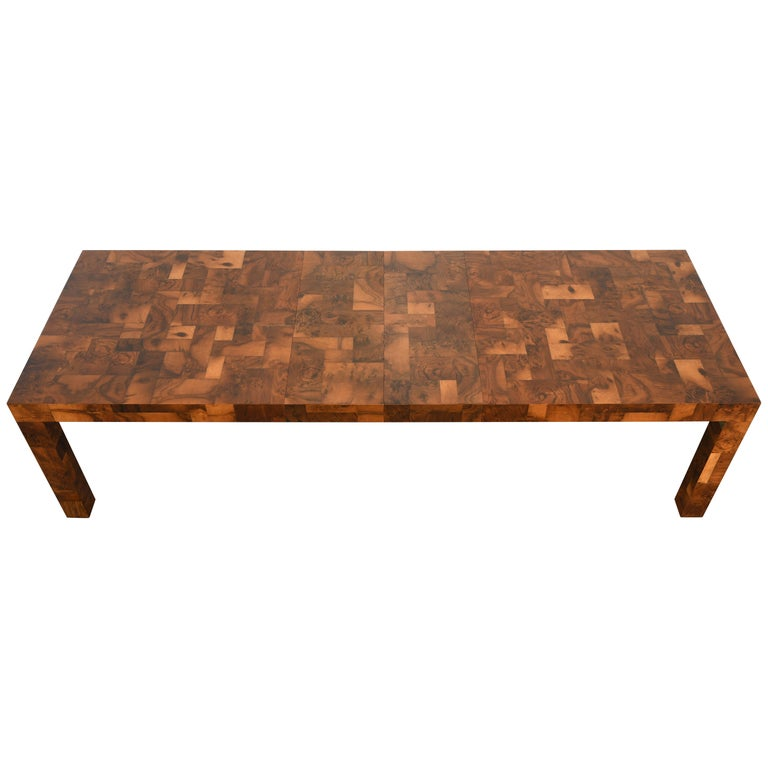Paul Evans Patchwork Walnut Dining Table for Directional, 1970s For Sale