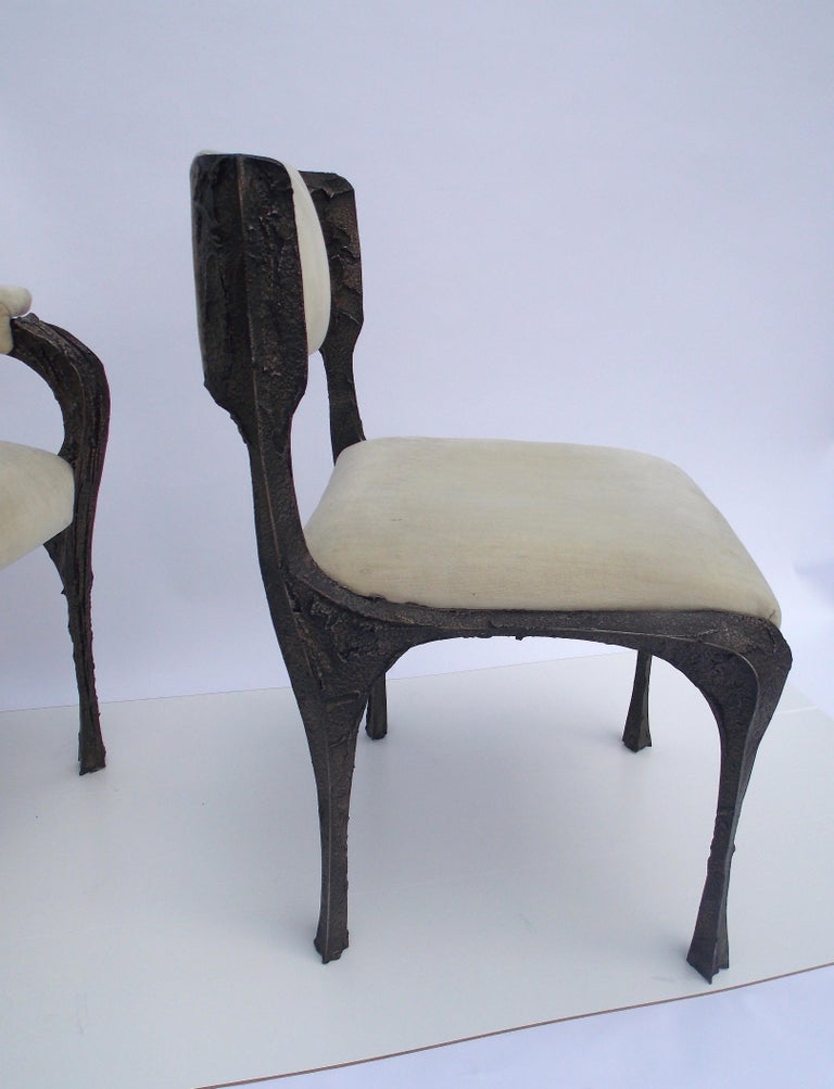 Paul Evans PE-106 Upholstered Chairs In Good Condition For Sale In West Palm Beach, FL