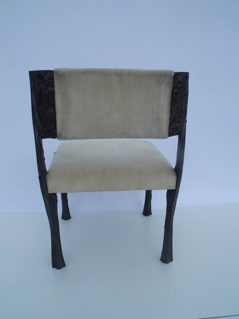 Metal Paul Evans PE-106 Upholstered Chairs For Sale