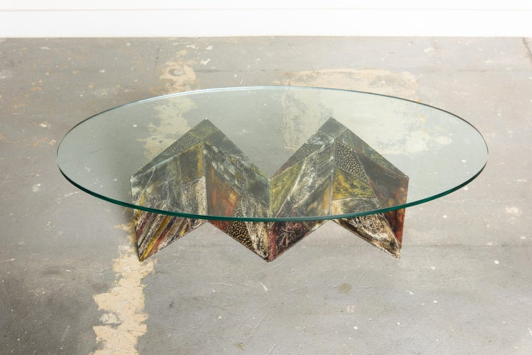 A stunning Paul Evans model PE-11 Angle Cocktail table which was part of the
