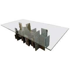Paul Evans Sculped Bronze Skyline Dining Table, USA, 1969