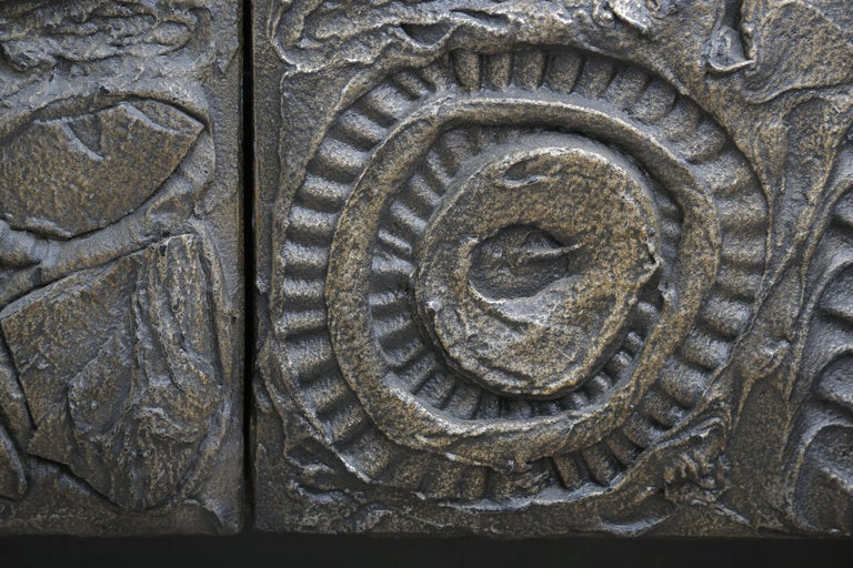 Paul Evans Sculpted Bronze 2-Door Cabinet For Sale 1