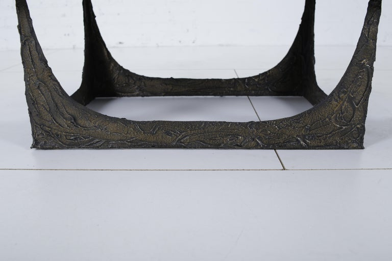 Mid-20th Century Paul Evans Sculpted Bronze Bench For Sale